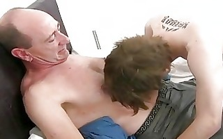 aged homo dad slamms juvenile tight arse hole in