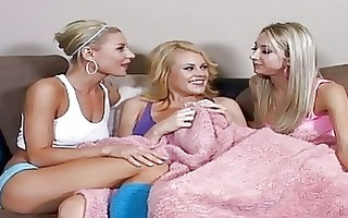 dirty golden-haired lesbos having hawt lesbo sex