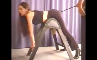 bad cutie being flogging (caning)