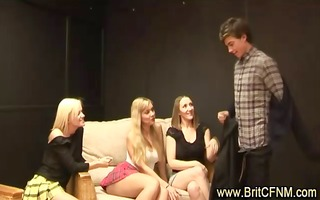 nasty cfnm sweethearts strip younger boy