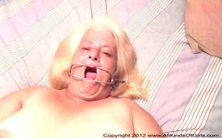 pov anal 33 year old granny wanda gets tied &