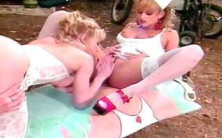 lesbian nurses outdoor toy every other