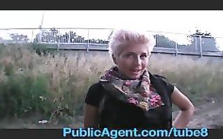 publicagent blond lesbian takes pounder for specie