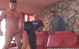 hawt oriental wife spanked and enjoyed a large