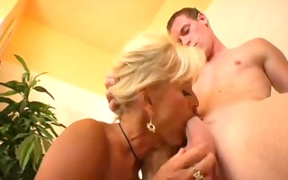 golden-haired mother id like to fuck eats