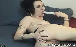 sexy and hawt darksome haired wench with worthy