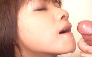 super hot oriental honey slurping cum off part11