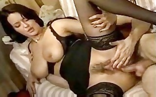 mother i whore in darksome nylons receives her