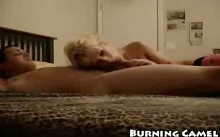 taut cockriding teasing blond