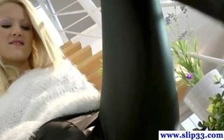 glamour golden-haired non-professional legal age