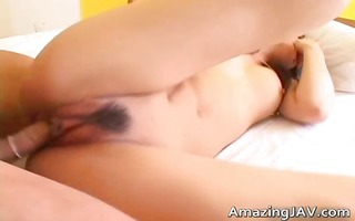 sexy japanese hottie in fucking and sucking part1