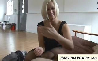anna enjoyment likes to give harsh tugjob to