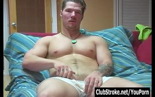 tattooed str boy theo masturbating