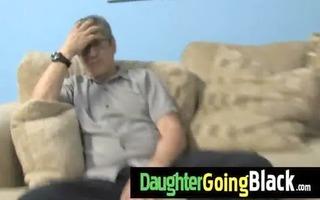 college floozy daughter gangbanged by a dark wang