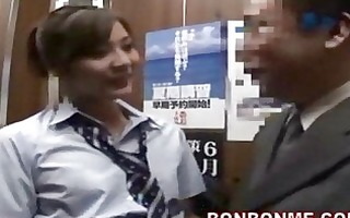 japanese schoolgirl gives fortunate chap a