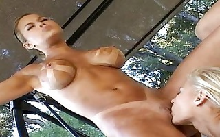 golden-haired brea lynn and her gfs receive lezz