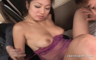 oriental soaked slit getting licked and fingered