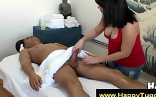 oriental masseuse suggests to engulf a lads shlong
