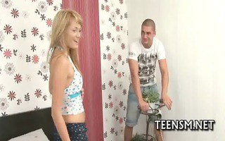 legal age teenager girl acquires tough experience