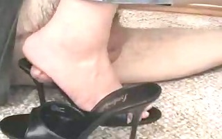 shoe fetish homemade footjob