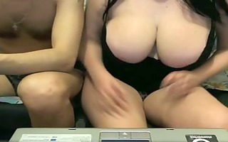 obese dilettante with large boobs tease clip
