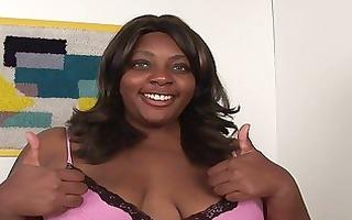nice-looking obese ebon momma sticks white