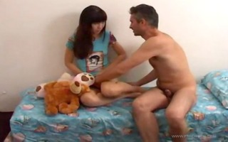 father bonks petite legal age teenager step