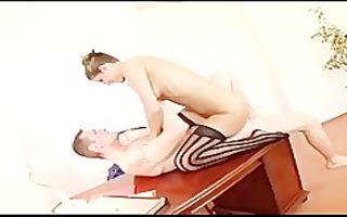 pretty secretary fucking in haunch high nylons