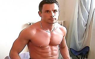 attractive homo hunk shows hiss tig