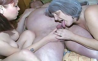 oldnanny old granny and granddad is enjoying