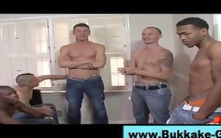 gay bukkake loving lad group blowjobs