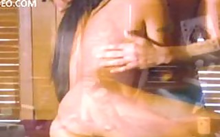 kaylani lei sucks pounder and then bows over the
