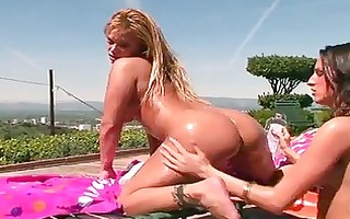 bootylicious lesbo pornstars playing with dildos