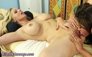 oriental lesbo licks pussy