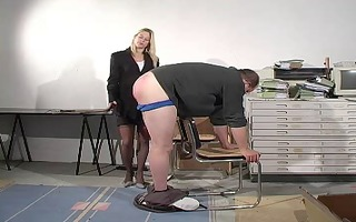lad receives punished and caned by mmf boss
