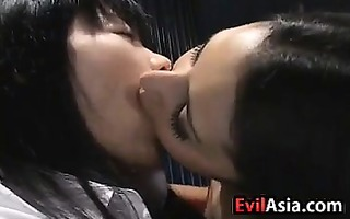 oriental schoolgirl making out with a cutie