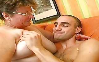 lucky boy have best sex in his life with granny