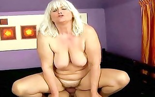 nasty breasty overweight granny acquires screwed