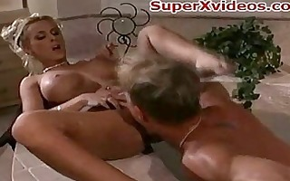 bathtube sex sexy golden-haired wife
