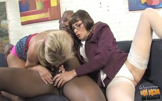 older mother creampied by dark in front of