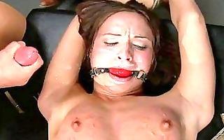darling gets coarse fur pie torture in public