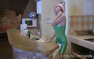 st lesbo experience with latex (hd)