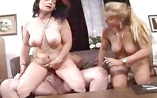 breasty matures sharing chubby chap
