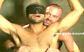 sex bondman in chains bound hard receives spanked