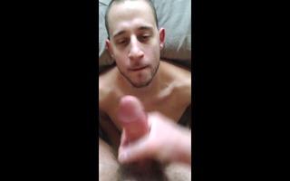 white thug supplicates dad for cum