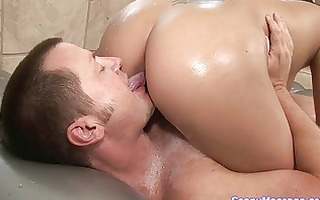 sexy oriental angel rides overweight shaft in the
