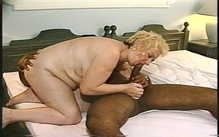 aged woman woman takes on young darksome stud