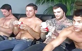 fours nasty homo hunks masturbating on porn