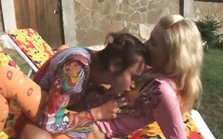 two russian lesbians eating holes