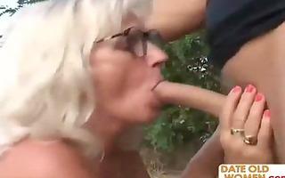 romanian bushy granny with juvenile lad